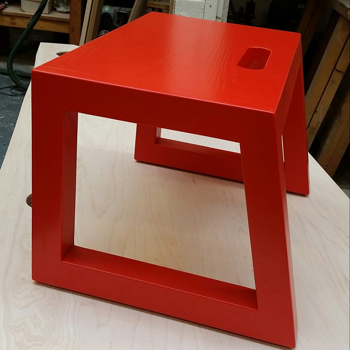 Vermillion stool